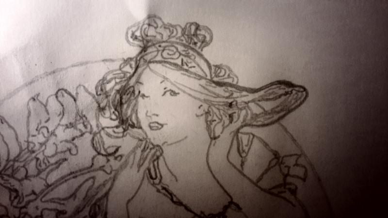[RENDER] MUCHA – Art de la musique 1898 – Graphit 4B