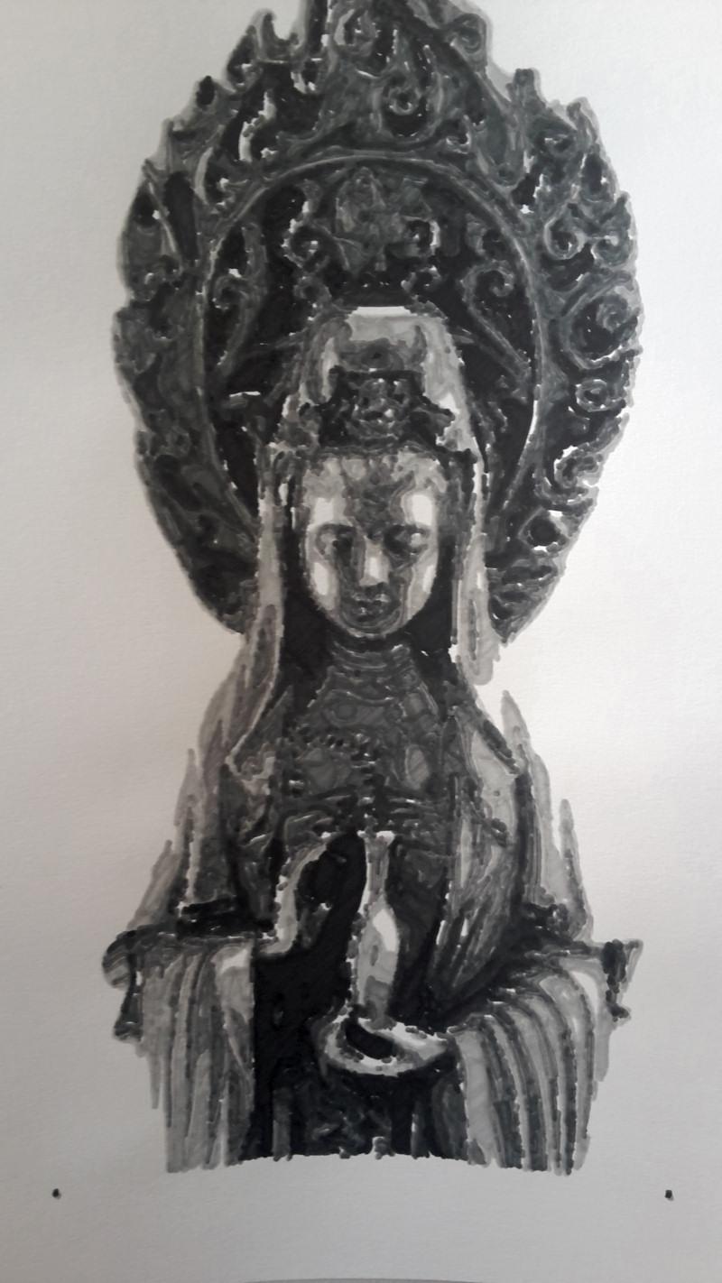 [RENDER] New filling algo – Indian sculpture